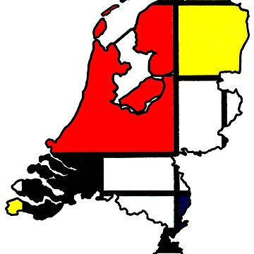 Mondrian - Netherlands (Famous Dutch Painting) by From-Now-On