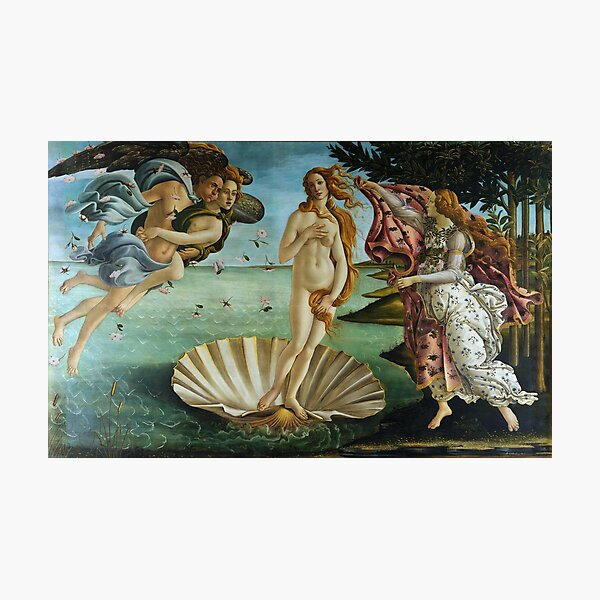 The Birth of Venus by Sandro Botticelli (1486) Photographic Print