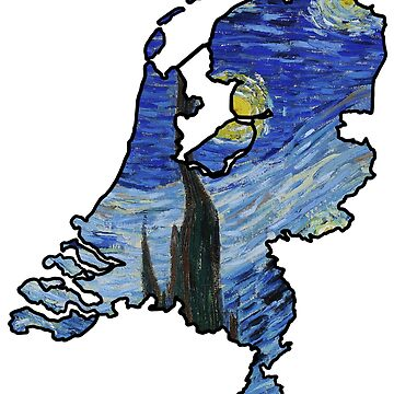Van Gogh Starry Night / Sterrennacht – Netherlands (Famous Dutch Painting) by From-Now-On