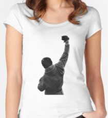 Never give UP! Rocky Balboa Women's Fitted Scoop T-Shirt