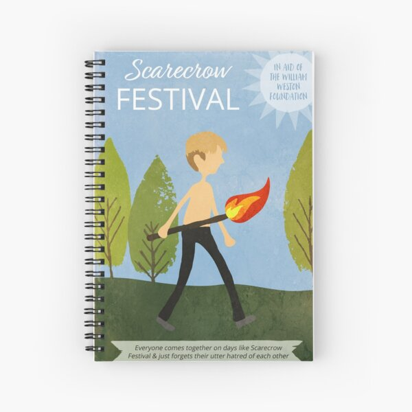 Scarecrow Festival Poster Spiral Notebook