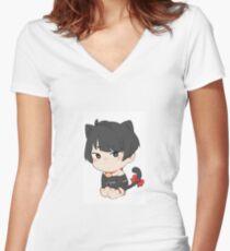 Katzenjunge Shirt mit V-Ausschnitt