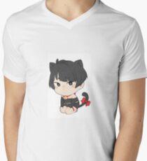 Katzenjunge T-Shirt mit V-Ausschnitt für Männer