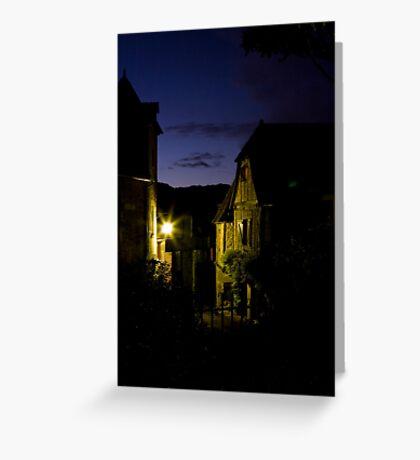 Twilight at Le Petit Grillon Greeting Card