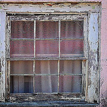 Weathered Window On Pink Building by Cynthia48