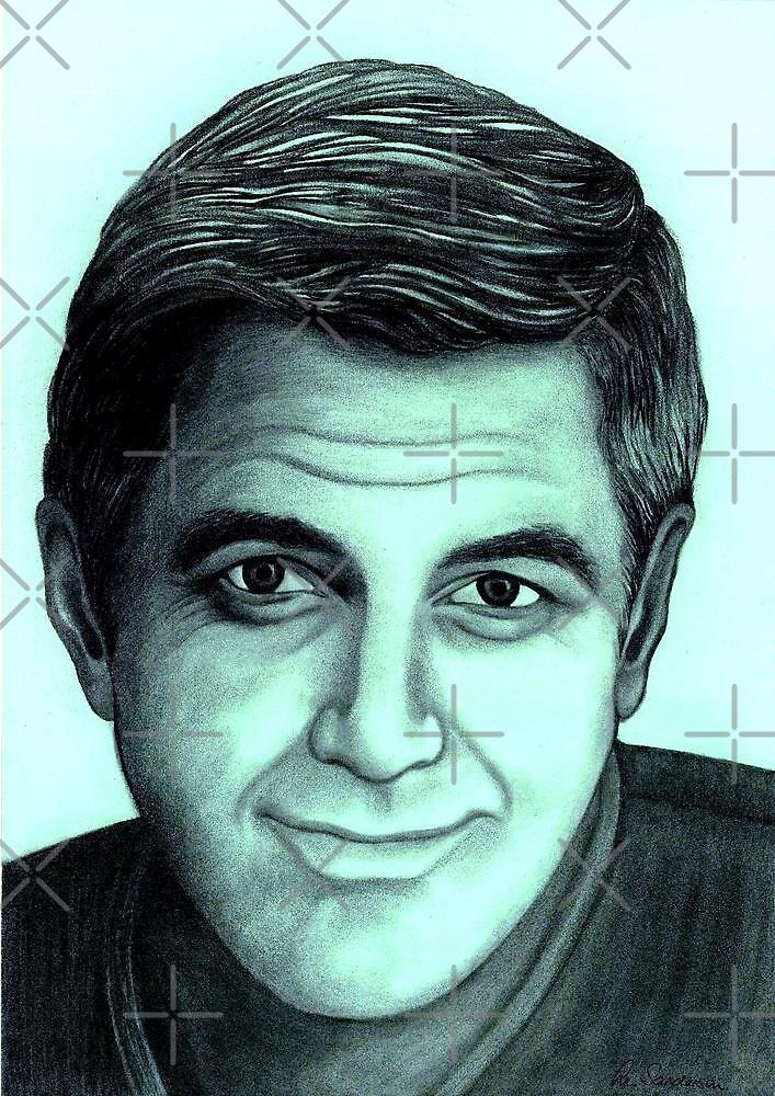 George Clooney celebrity portrait by Margaret Sanderson