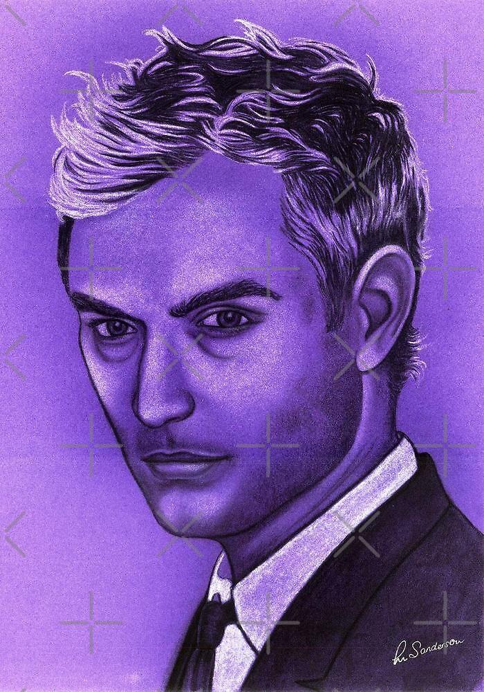 Jude Law celebrity portrait by Margaret Sanderson