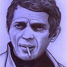Steve McQueen celebrity portrait by Margaret Sanderson