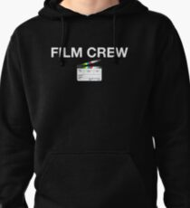 Film Crew with clapperboard (white lettering) Pullover Hoodie