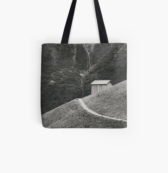 HILLSIDE HUT Allover-Print Tote Bag