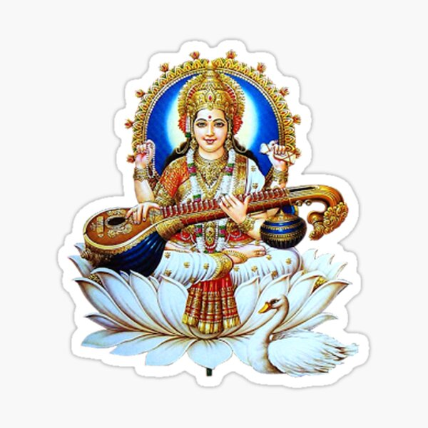Maa Sarswati Sticker Photo