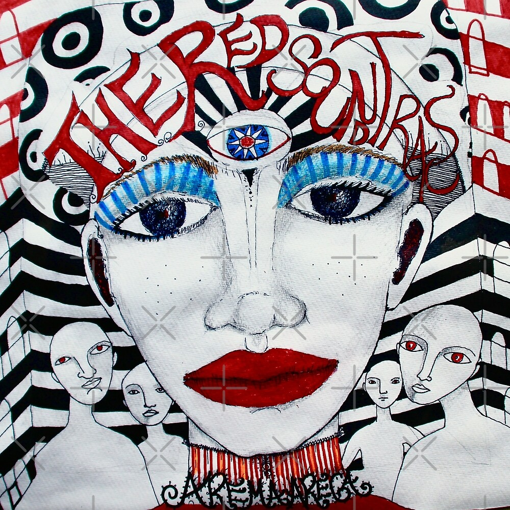 The Red Soundtracks - Drawing by Arema Arega