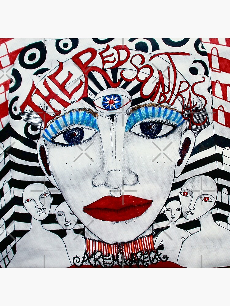The Red Soundtracks - Drawing by aremaarega