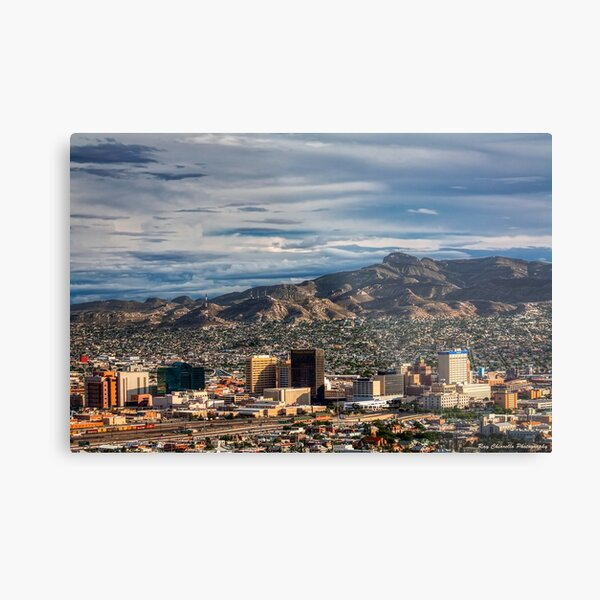 Downtown El Paso Metal Print