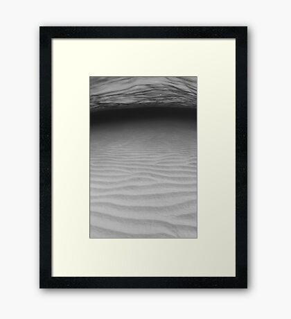 Sand ripples in B&W Framed Print
