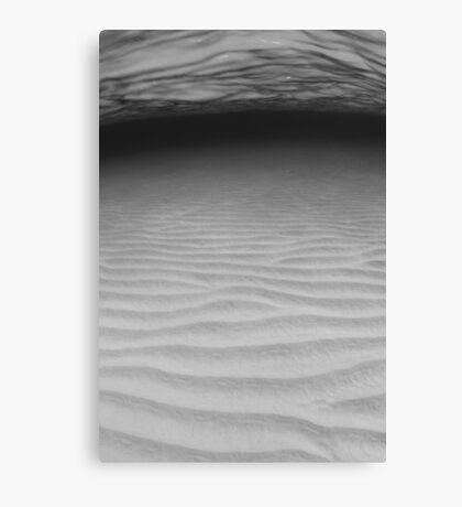 Sand ripples in B&W Canvas Print
