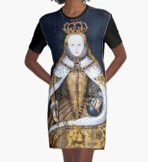 Queen Elizabeth I of England in Her Coronation Robe Graphic T-Shirt Dress