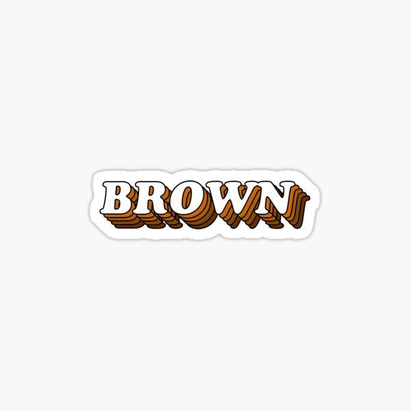 3D Retro Brown Sticker