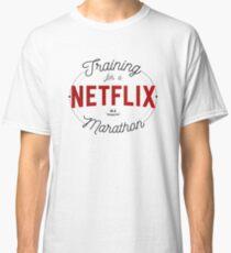 Training for a Netflix Marathon - Netflix Inspired Design Classic T-Shirt