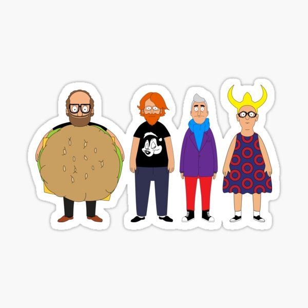 Bob's Burgers Phish by Custeez Sticker
