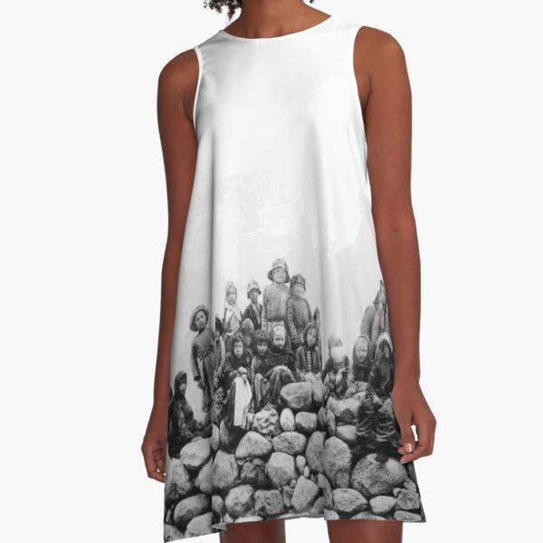 #tawlula, #towlula, #standing, #people, #adult, #military, #portrait, #uniform A-Line Dress