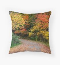 Bike trail Throw Pillow