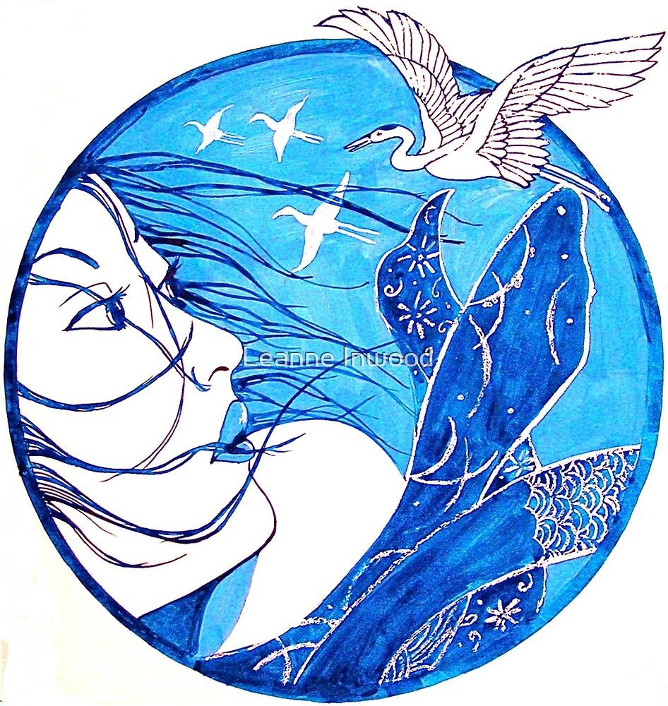 blue japan by Leanne Inwood