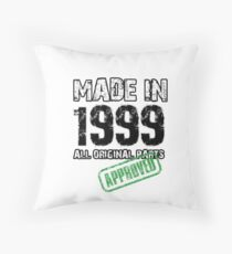 20th Birthday Gifts Made in 1999 Throw Pillow
