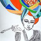 Self-Portrait in Summer by Anita Revel