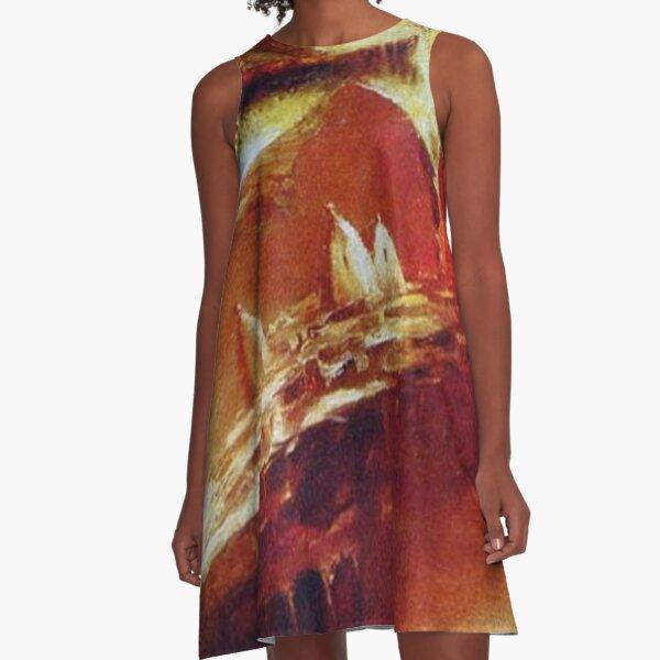 #modern #art, #painting, #art, #decoration, #oldfashioned, #retro, #clothing, #colors, #imagination A-Line Dress