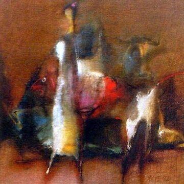 #modern #art, #mammal, #painting, #illustration, #one, #art, #cavalry, #motion, #clothing by znamenski
