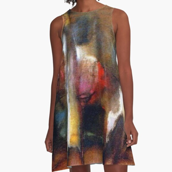 #modern #art, #mammal, #painting, #illustration, #one, #art, #cavalry, #motion, #clothing A-Line Dress
