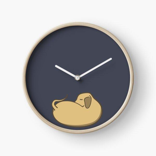 Sleepy Bean Dog Clock