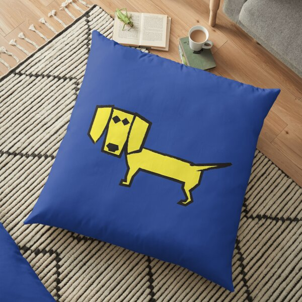 Yellow Angular Dog Floor Pillow