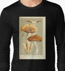 Illustrations of British Fungi by Mordecai Cubitt Cook 1891 V4 0551 AGARICUS  PSILOCYBE  SARCOCEPHALUS Long Sleeve T-Shirt