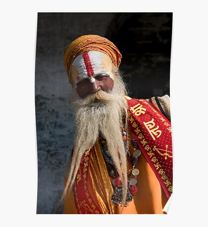 Nepalese Holy Man Poster