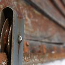 Rusted Garage Door Pulley Wheel by Casey Voss