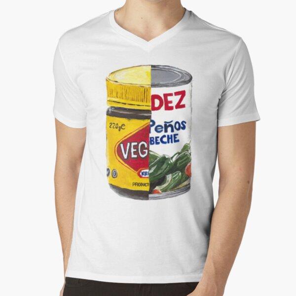 Vegemite and Jalapenos V-Neck T-Shirt