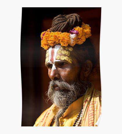 Nepal Holy Man Poster