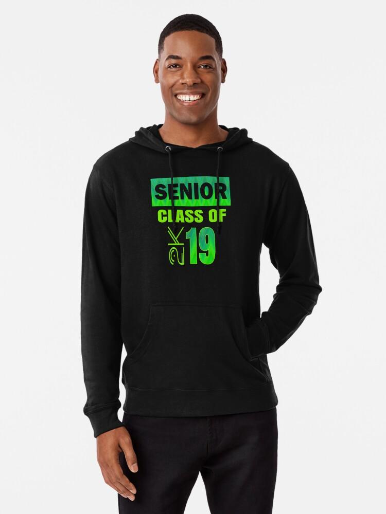 'Senior 2019 Cool Popular Class Of 2K Graduate Bright Green' Lightweight  Hoodie by kimmicsts
