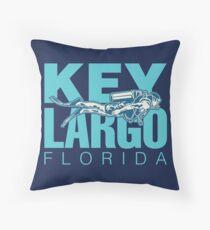 Key Largo Florida Scuba Diving Floor Pillow