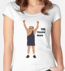 Its always sunny in Philadelphia The trashman Women's Fitted Scoop T-Shirt