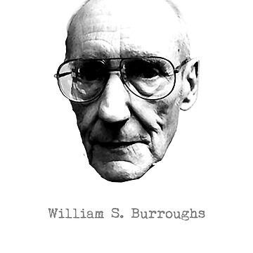William S Burroughs poet writer beat generation author literature lover gift t shirt by Johannesart