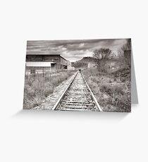 Railway Tracks and Graffiti Greeting Card