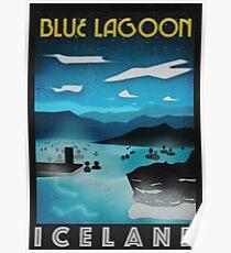 Island: Blaue Lagune Poster
