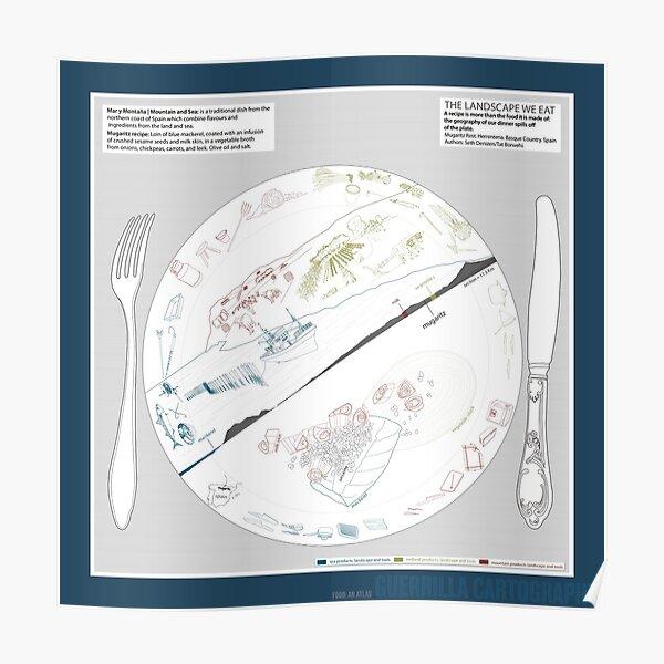 The Landscape We Eat (blue) Poster