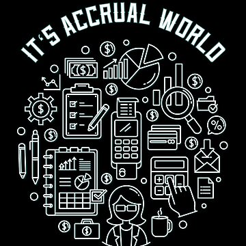 Accrual world accountant numbers counting money profession gift by Netsrikfa