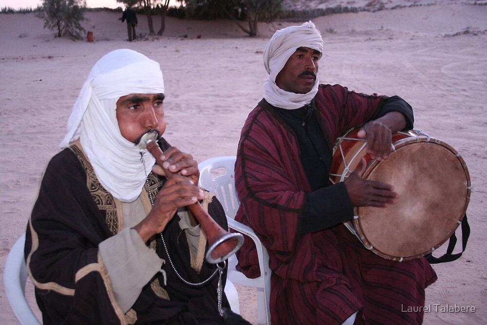 Musicians in the Sahara Desert by Laurel Talabere