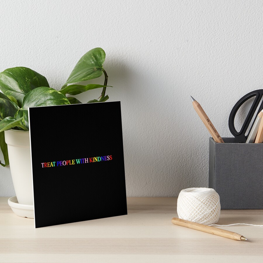 Treat People With Kindness (Rainbow, Version 1) Art Board Print