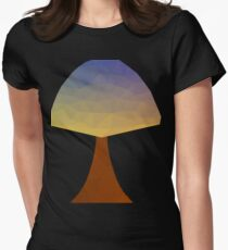 Abstract Polygonal Tree Art Women's Fitted T-Shirt